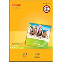 Kodak 180GSM 20 Sheets Gloss Instant Dry 180gsm A4 Photo Paper, (5740-512)