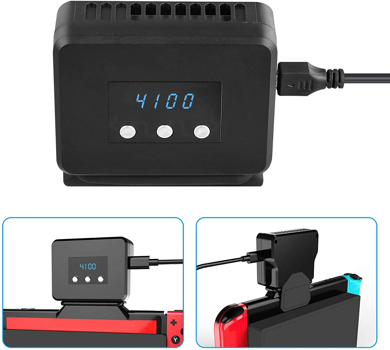 EEEKit Ventilador de refrigeración para Nintendo Switch Dock Set de visualización de temperatura Cooler para NS estación de acoplamiento original, alimentado por USB, cable integrado: Amazon.es: Electrónica