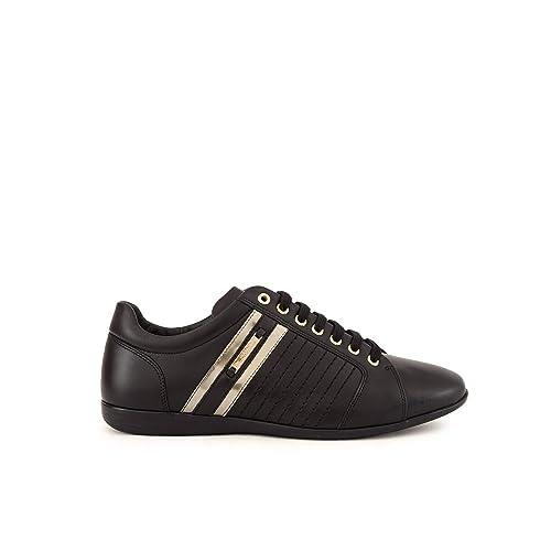 Versace Collection Formal Hombre Zapatillas Negro: Amazon.es: Zapatos y complementos