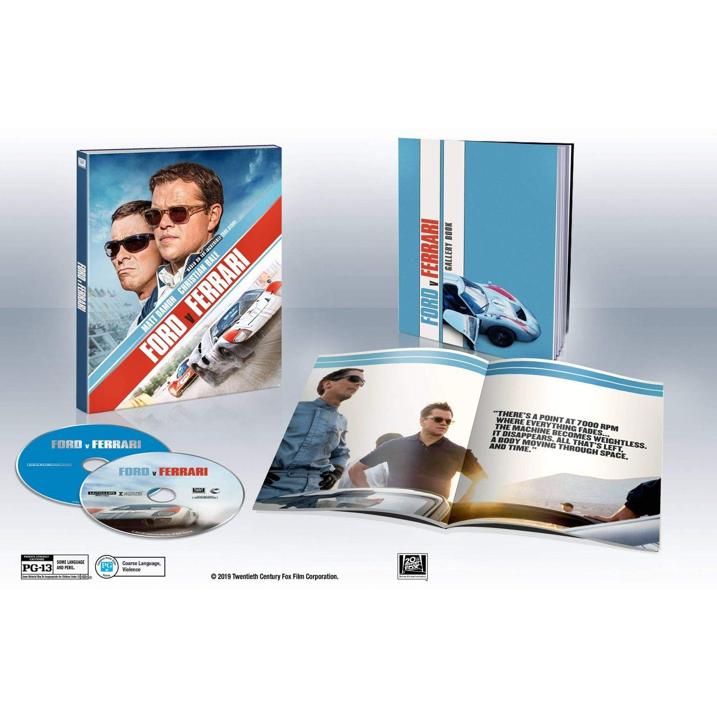 Amazon Com Ford V Ferrari Digipack 4k Uhd Blu Ray Digipack With Gallery Book Movies Tv