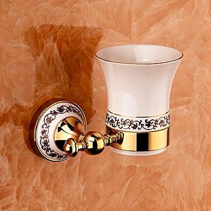 BBSLT Baño de cerámica contemporánea tumbler porta cepillo de dientes , b