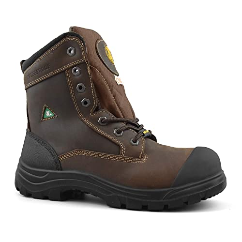 b7b62250b33 Tiger Men's CSA 8 Inch Waterproof Lightweight Steel Toe Leather Work Safety  Boots 7888