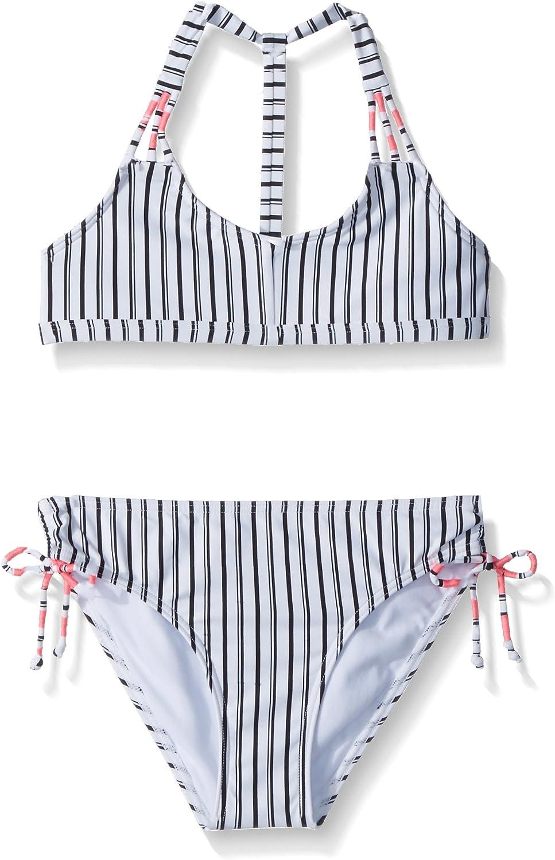 ONEILL Womens Highway Stripe Hi-Neck Bikini Top