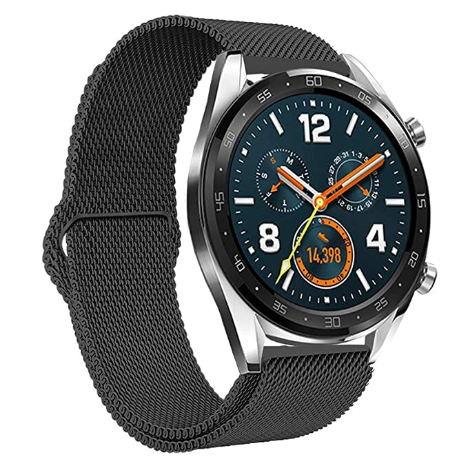 Leafboat Compatible con Huawei Watch GT Running Watch Correa de Metal