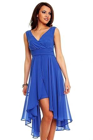 Vokuhila kleid blau