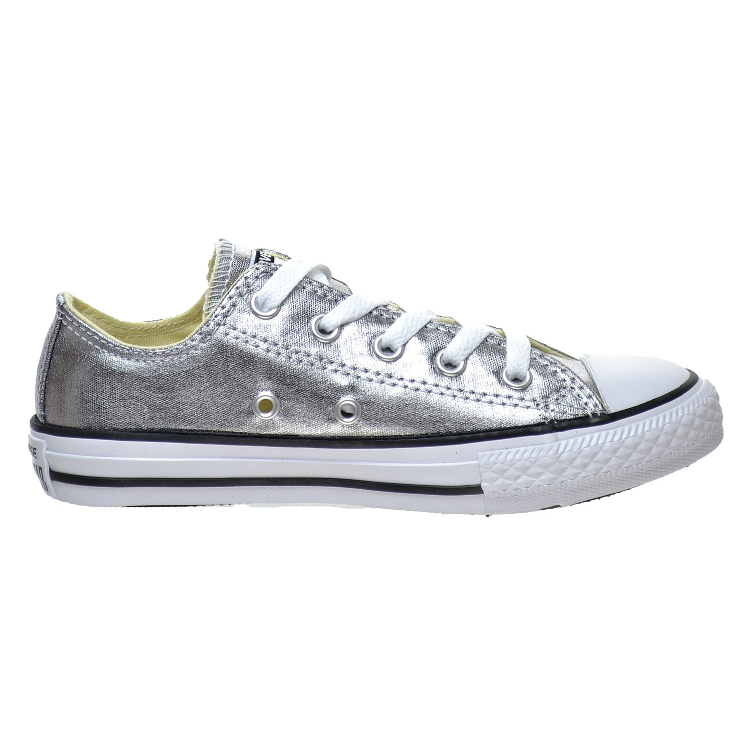 Converse Chuck Taylor All Star Season OX, Unisex Sneaker  12.5 Little Kid M|Metallic Gunmetal/White/Black