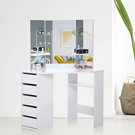 With unique fitted bedroom furniture from jarrods it s going to be makika corner dressing table mirror set wooden vanity 5 drawers makeup dresser furniture white bedroom desk watchthetrailerfo