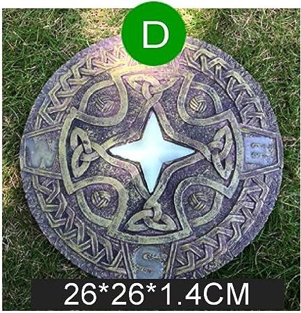 zenggp Piedra Redonda del Río Piedras Escalonadas Jardín Césped Pathmate Resina Estatua - Piedras Decorativas para Su Jardín,Stars: Amazon.es: Hogar