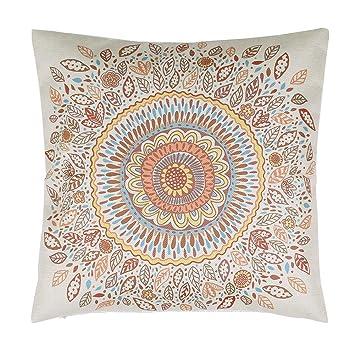 Amazon.com: whitelotous funda de almohada de lino de algodón ...