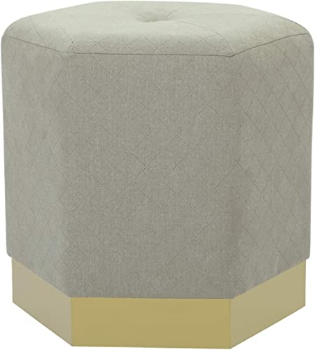 Joveco Ottoman Hexagon Foot Rest Stool Grey