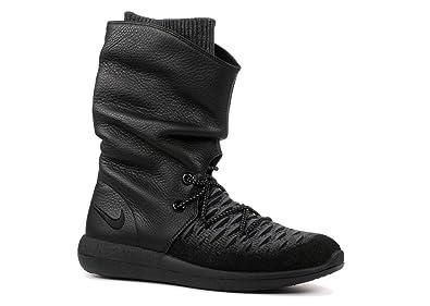 buy popular 415d3 dd4d1 Nike Roshe Two Flyknit Hi 861708-001 Women s Shoe Black Size  2.5 UK