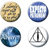 """Ata-Boy Harry Potter Favorites Set of 4 1.25"""" Collectible Buttons"""