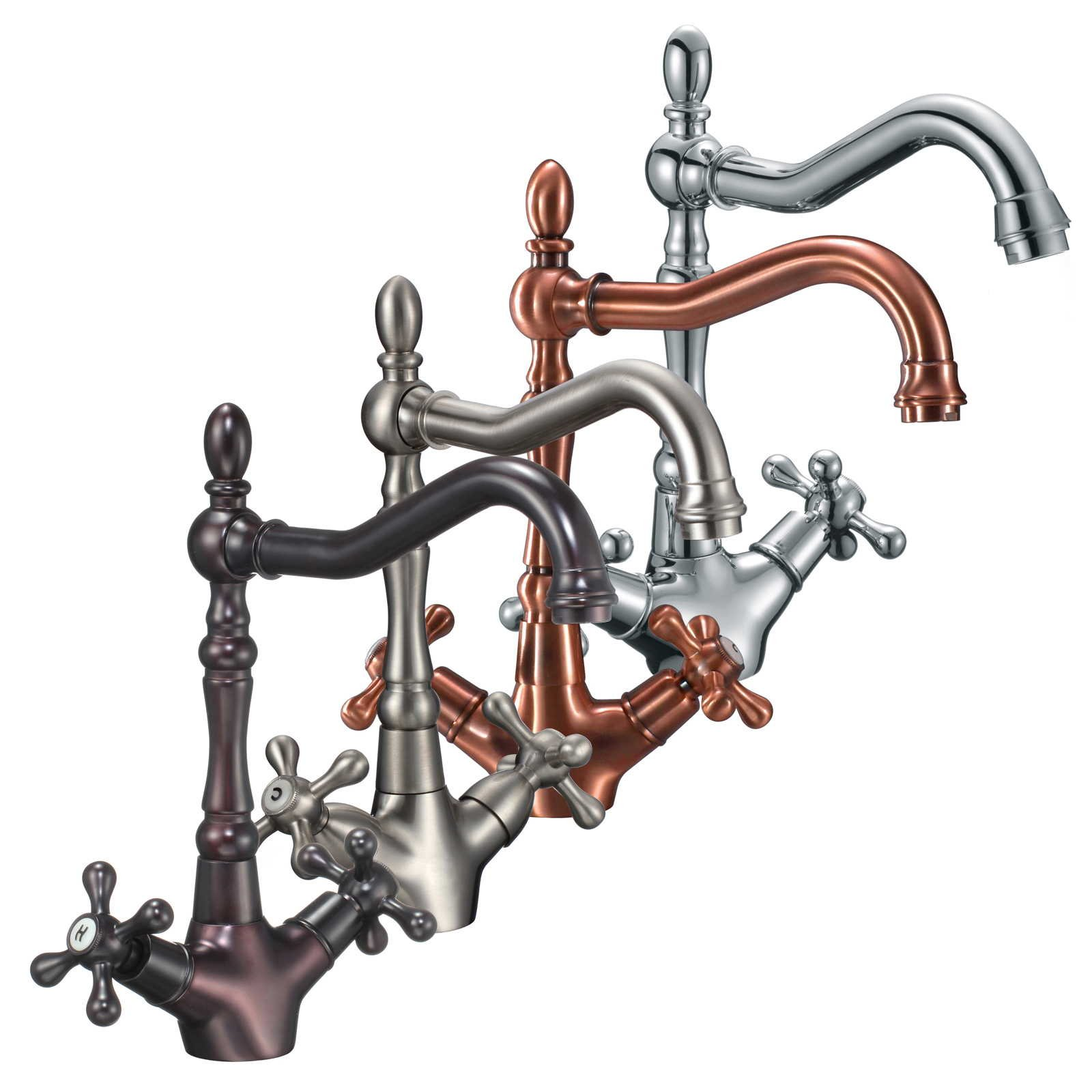 FREUER Bellissimo Collection: Classic Kitchen/Wet Bar Sink Faucet, Brushed Nickel by Freuer