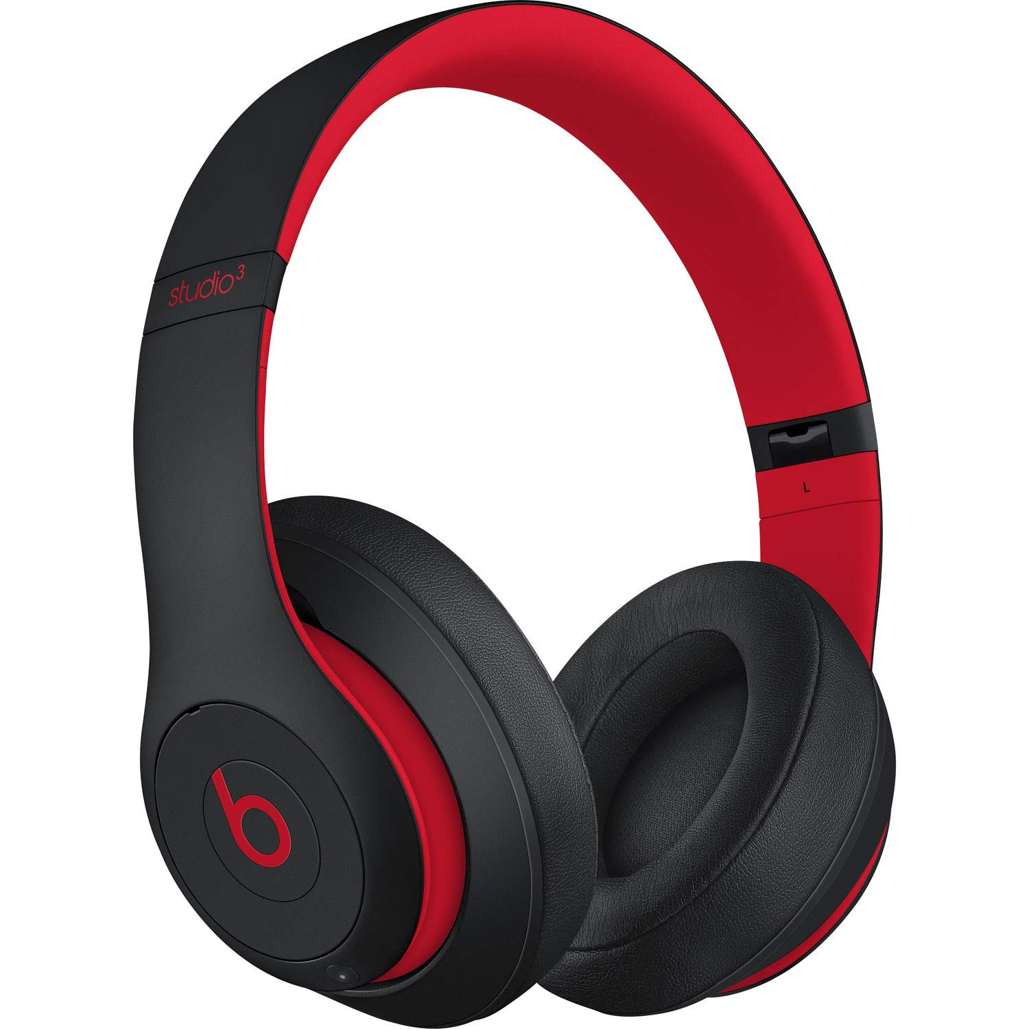 S t u d i o 3 Wireless Over Ear Headphone Decade Collection Defiant Black Red with Carrying case