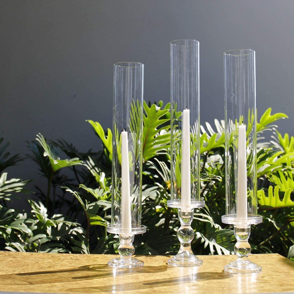 Tabletop Protection Decoration Open Ended Hurricane 3 Wide x 6 Tall Chimney Tube Candle Shade CYS EXCEL Pack of 6 Glass Hurricane Candle Holders Glass Cylinder Open Both Ends