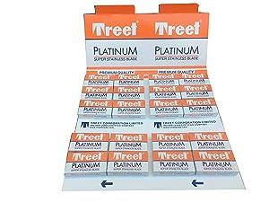 Treet Platinum Super Stainless Double Edge Razor Blades (200 blades)