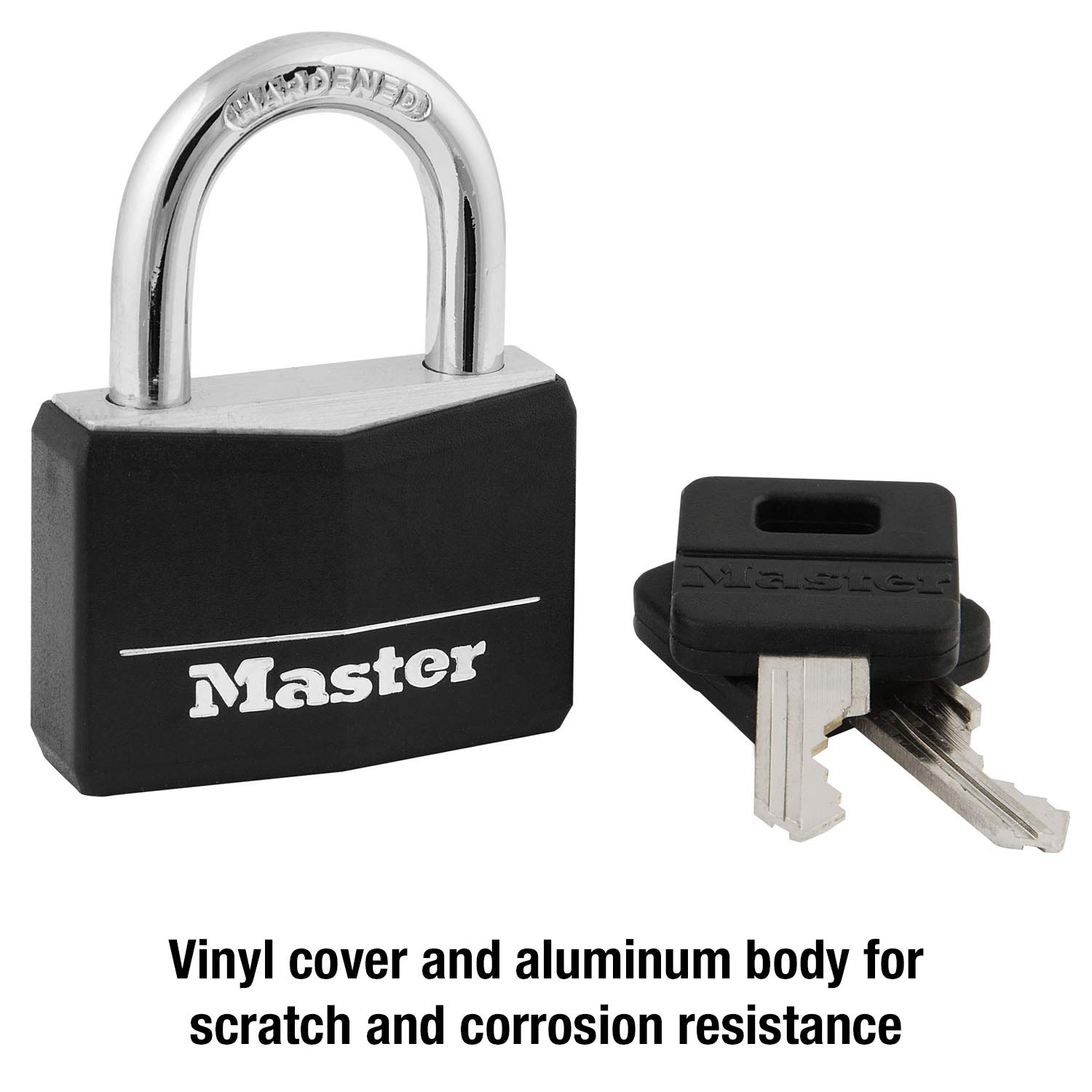 5878cee6367a Master Lock 141D Covered Aluminum Keyed Padlock, 1 Pack, Black
