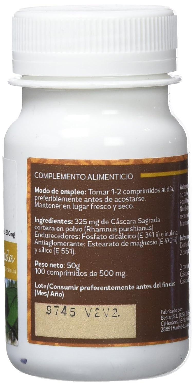 SOTYA - SOTYA Cáscara Sagrada 100 comprimidos 500mg: Amazon.es: Salud y cuidado personal