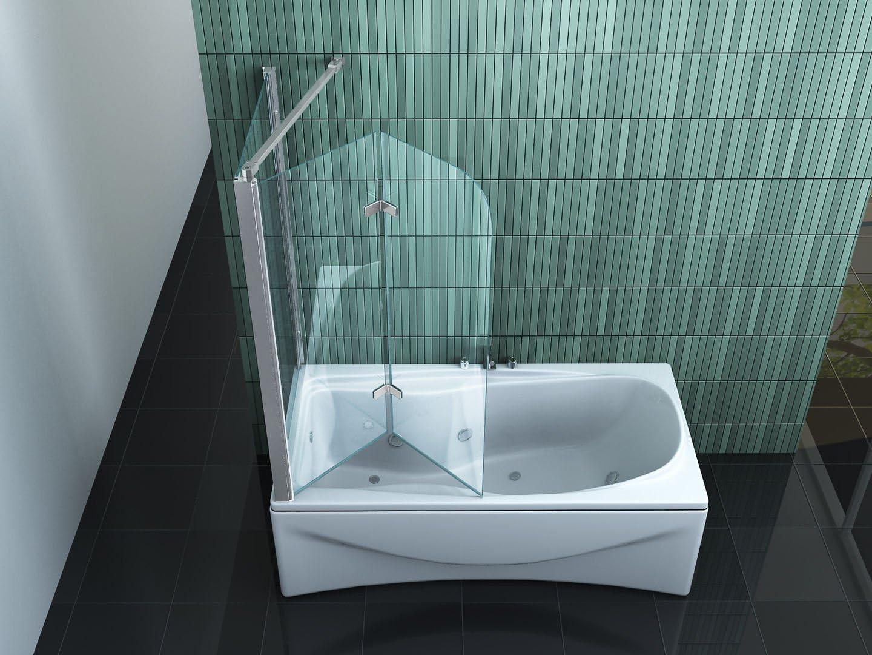 impex-bad_de Perinto 70 - Mampara de ducha en esquina (para bañera): Amazon.es: Bricolaje y herramientas