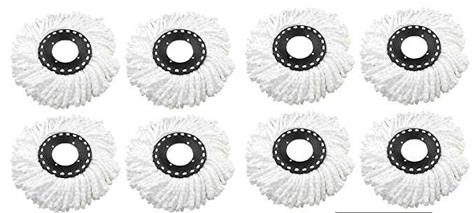 HOUSE OF QUIRK Microfiber 360 Degree Head Refill for Magic Mop, 8pcs