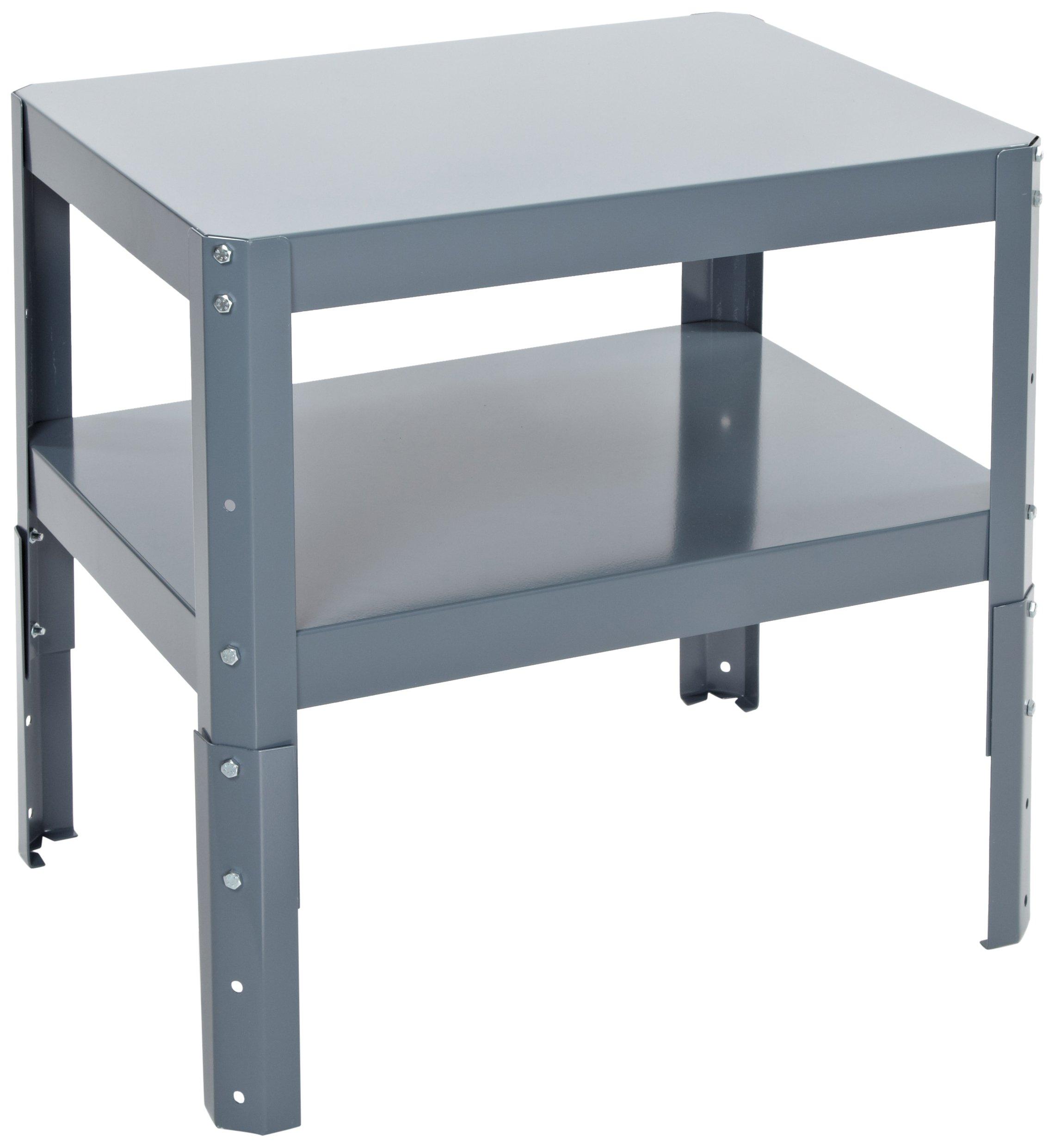 Edsal WT182418 Industrial Gray 16 Gauge Steel Multi-Purpose Work Table, 24'' Width x 18'' Height x 18'' Depth