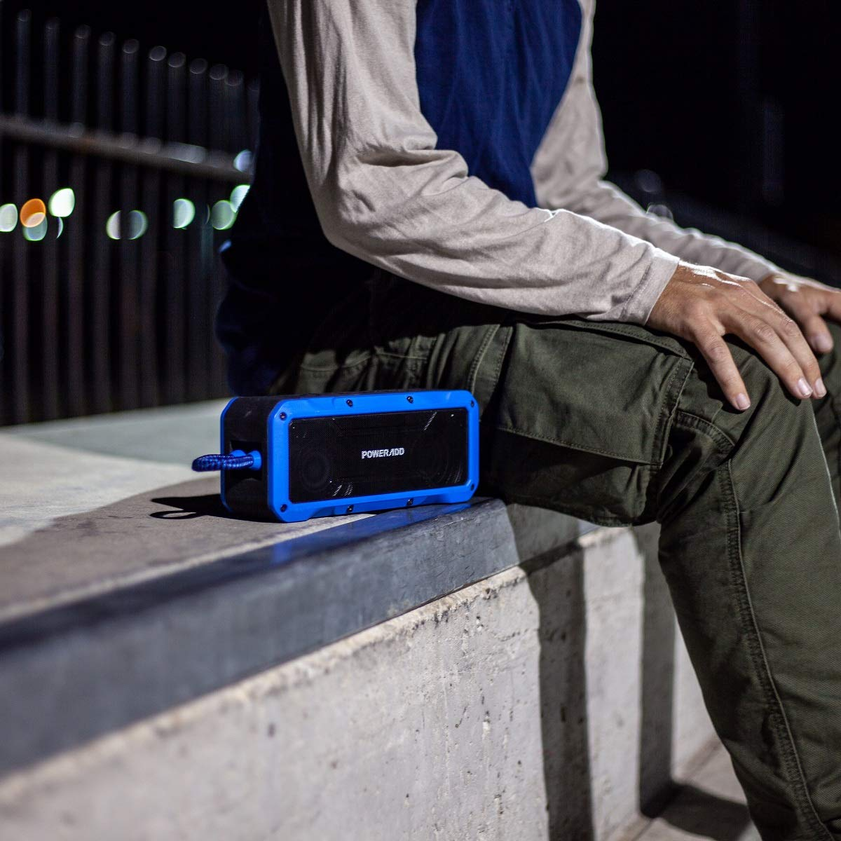 POWERADD Enceinte Bluetooth Portable Grande Capacité Haut Parleur Waterproof Sans Fil Imperméable IPX7 Anti-Choc et Anti-Sable avec Fonction Main Libre pour Android, iPhone et Autres Appareils - Bleu