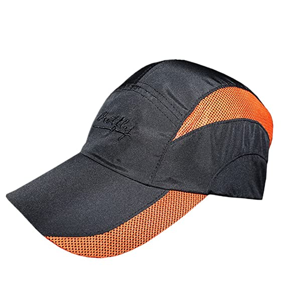 f850198c314823 Unisex Summer Quick Drying Mesh Sun Cap Lightweight Outdoor Sports Hat  Breathable Sun Running Cap