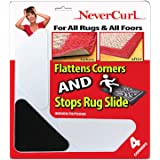 Grips The Rug with Nevercurl Includes 4