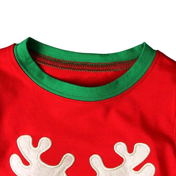 3f50d1ff0 Bebone Ninos Ninas Conjunto de Pijamas de Navidad Santa Claus Camiseta  Manga Larga y Pantalones Largas  Amazon.es  Ropa y accesorios