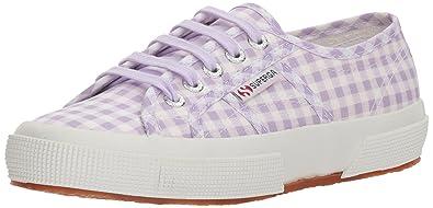 Superga Women's 2750 Gingham Sneaker, Lavender, ...
