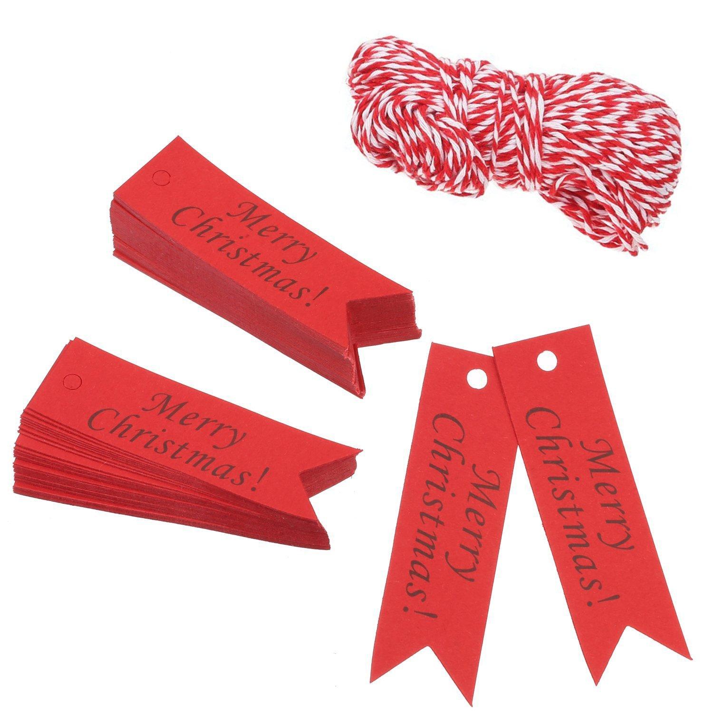 Amaza 150pcs Geschenkanhänger Kraftpapier Weihnachten Anhänger 7cm x ...