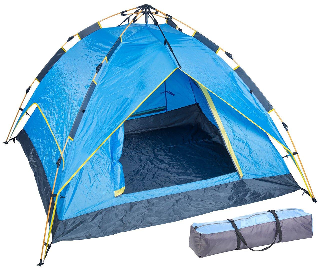 Semptec Urban Survival Technology Zelte: Automatik-Kuppelzelt für 3-4 Personen, 3.000/5.000 mm Wassersäule (Campingzelt)