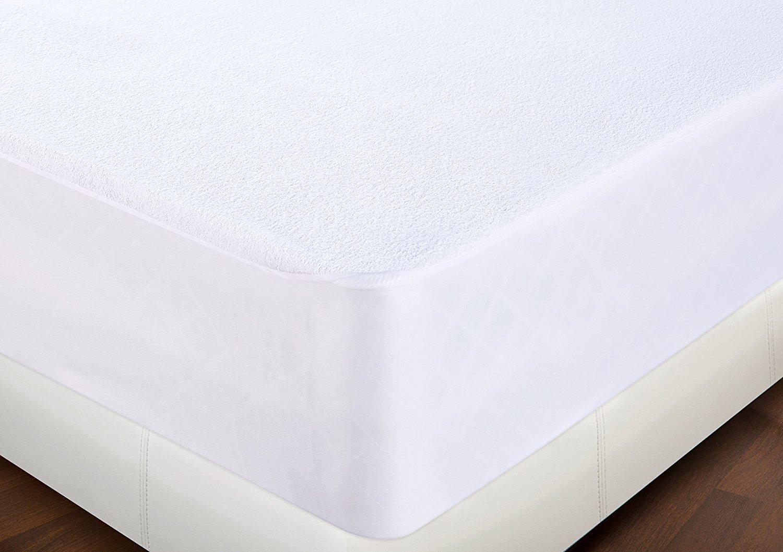 Utopia Bedding Protector de colchón Impermeable hipoalergénico Premium - Funda de colchón Equipada (135 x 190 cm): Amazon.es: Hogar