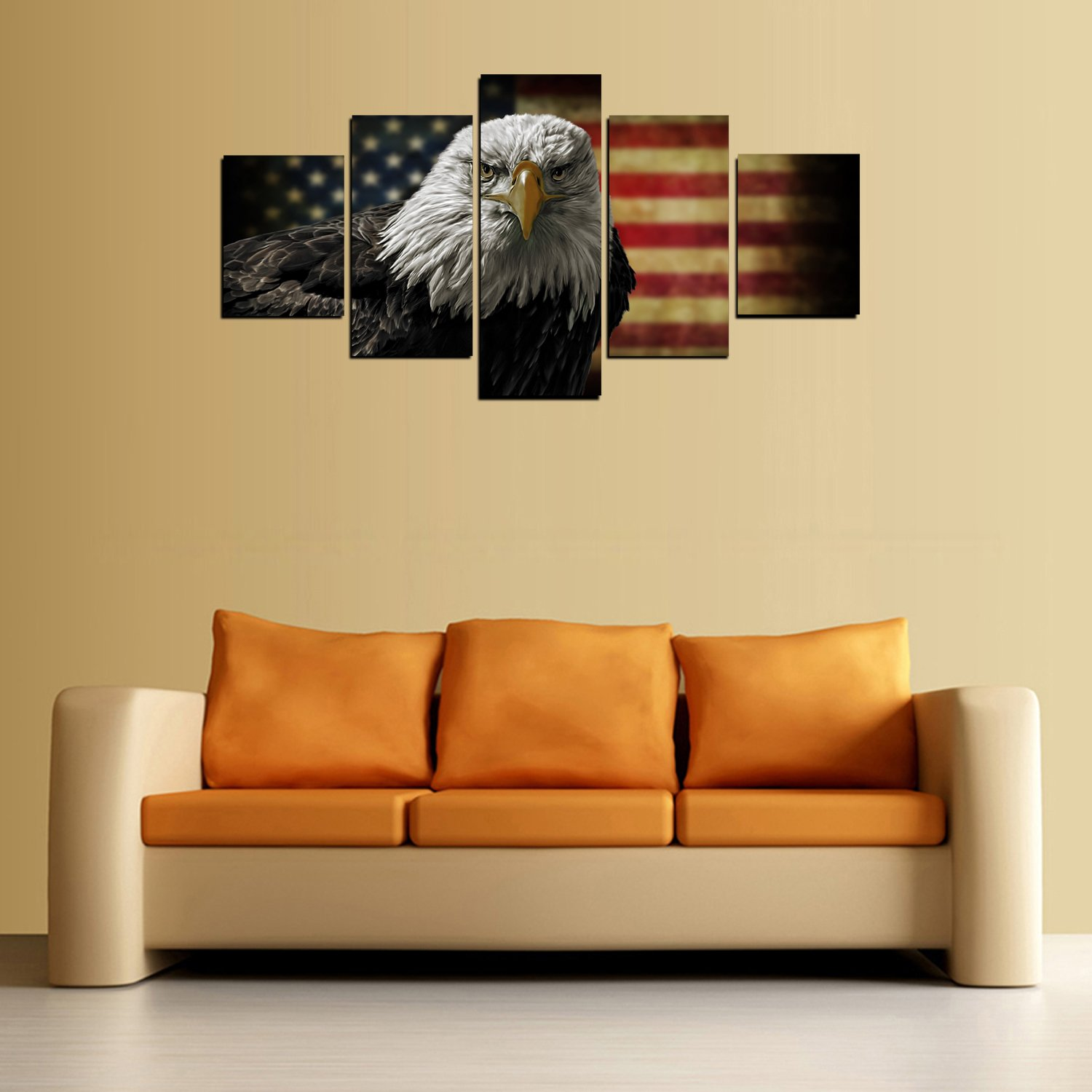 Amazon.com: Modern Home and Office Wall Decor 5 Panels Canvas Prints ...