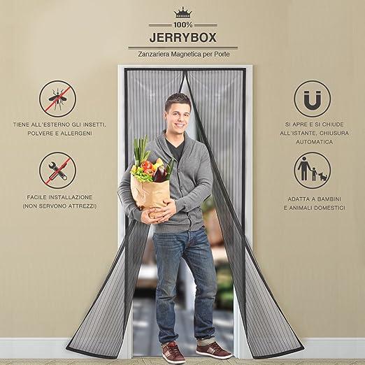 45 opinioni per JerryBox Zanzariera Magnetica per Porte- Dimensioni 110 x 220 cm, Si Adatta a
