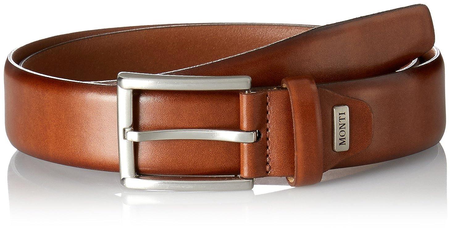 ae1404de291d Monti Mens Artikel Classic Leather Belt - Tan  Amazon.co.uk  Clothing