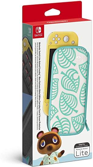 Amazon Com Animal Crossing New Horizons Aloha Edition Carrying Case Screen Protector Nintendo Switch Lite