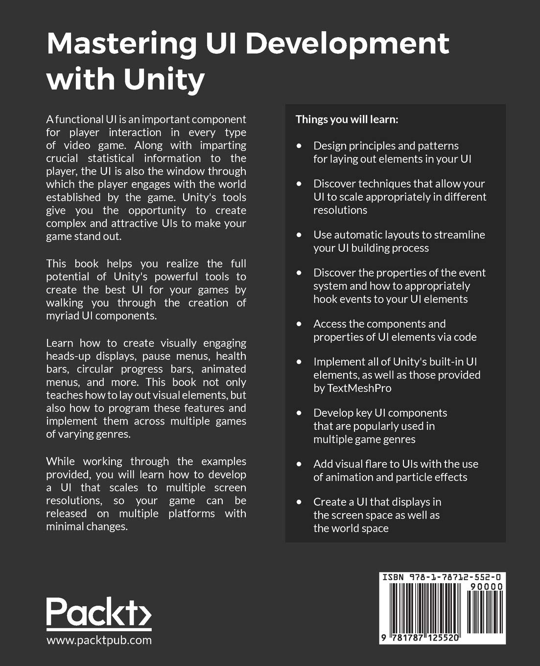 Buy Mastering UI Development with Unity: An in-depth guide