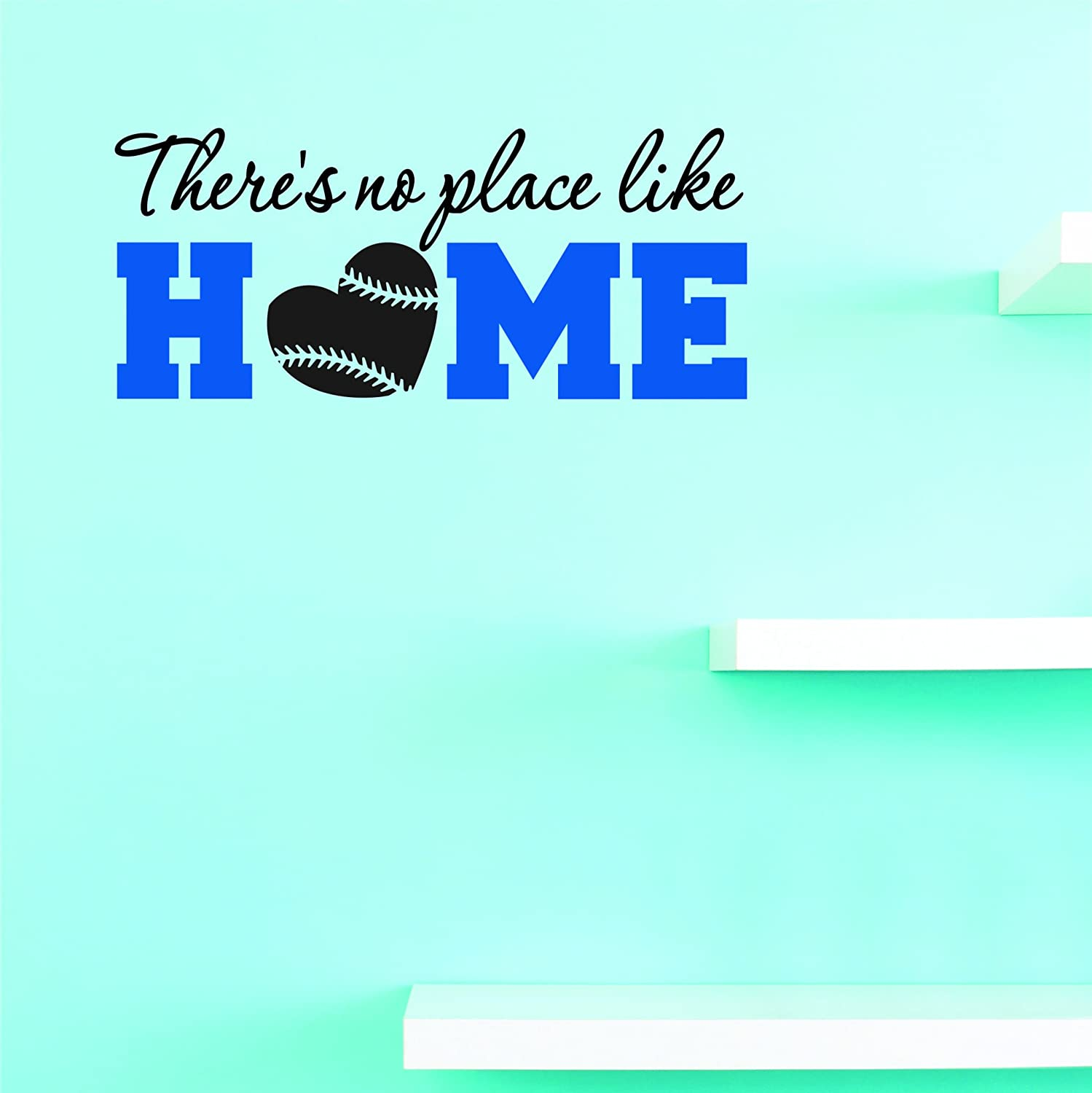 Wall Art Size Multi 10 Inches x 20 Inches Color 10 x 20 Design with Vinyl JER 2314 1 Hot New Decals Theres no Place Like Home