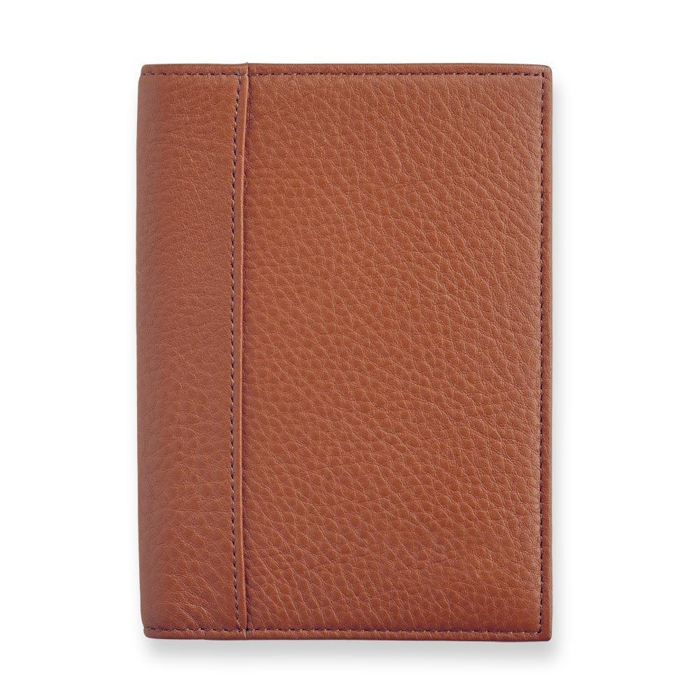 Levenger Privacy Leather Passport Jacket - Cinnamon