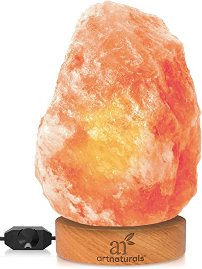 Amazon.com: Lámpara de sal de roca del Himalaya ArtNaturals ...