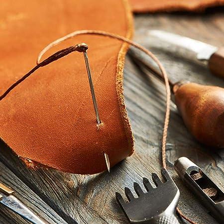 ye623 20 unidades de agujas de coser con ojos grandes con una ...