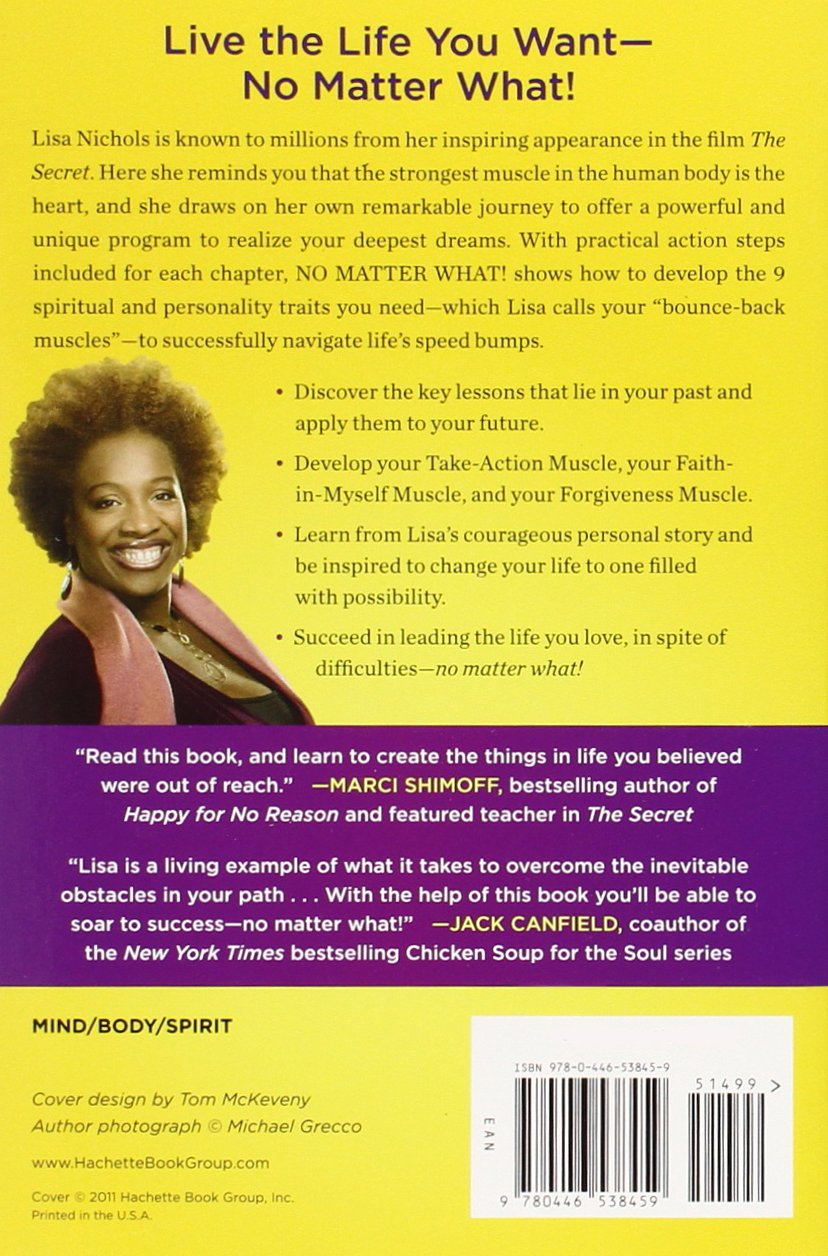 no matter what 9 steps to living the life you love lisa nichols