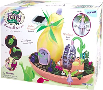 Amazon Com My Fairy Garden Windmill Terraza Solar Power