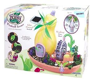 My Fairy 3665 Windmill Terrace Solar Power Playset - Grow Your Own Magical Garden, Yellow/Pink/Green/Purple