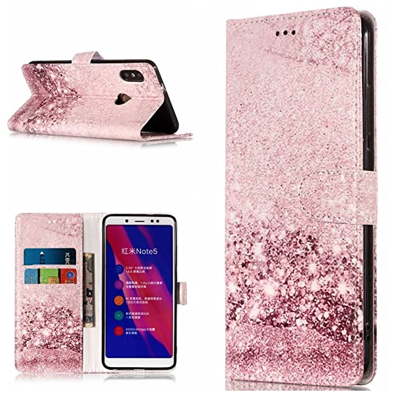 another chance 0bb35 0b98e Amazon.com: Redmi Note 5 Pro Case,DAMONDY Marble Stand Wallet Purse ...