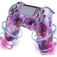 PS4-kontroll, trådlös kontroll kompatibel med PS4/PS4 Pro/PS4 Slim/PC med pekpanel/ljudfunktion/6-axiers sensor/dubbel…