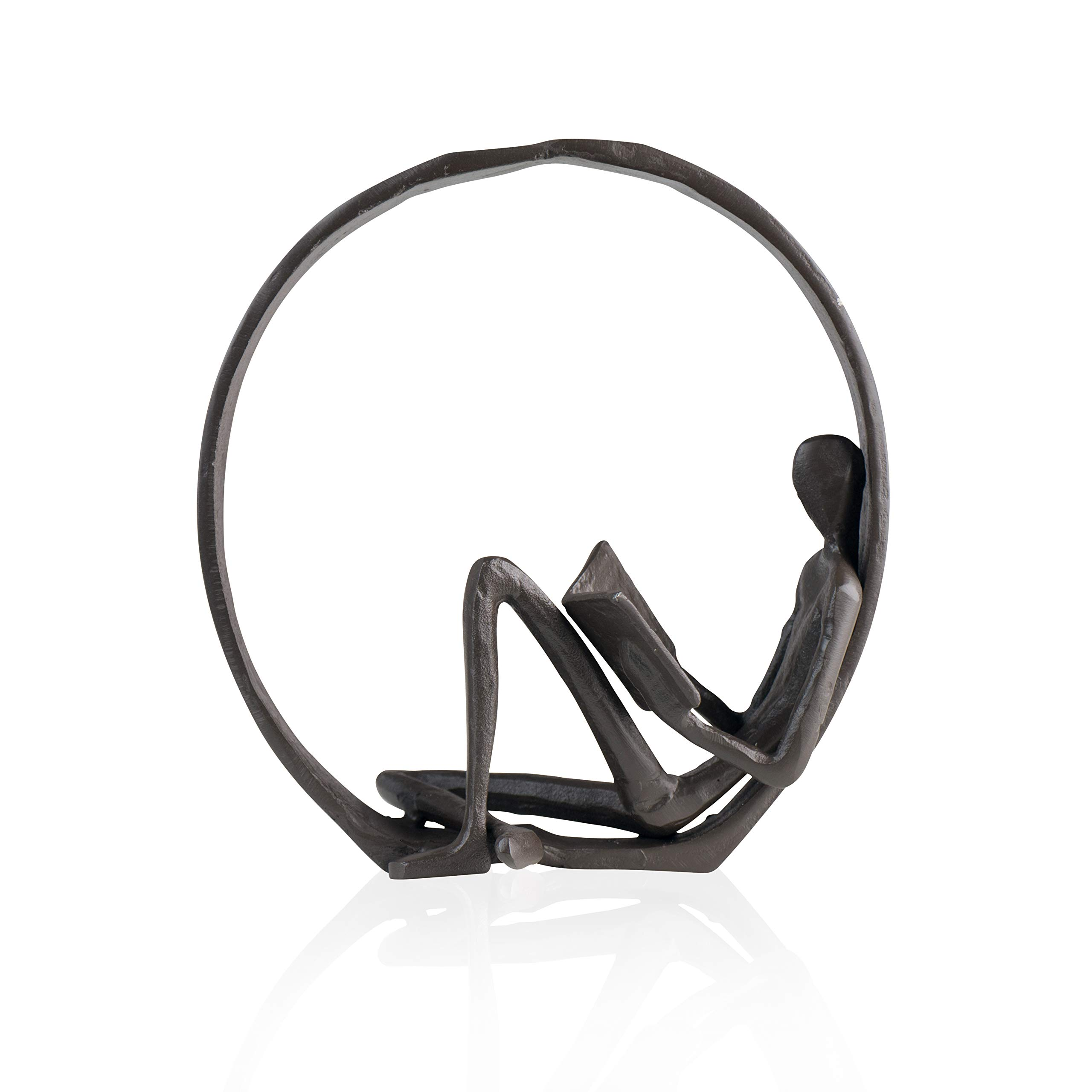 Danya B Small Iron Sculpture Accent Piece, Gift for Readers, Teachers, and More, Old-Fashioned Decorative Object for Home, Office, Table and Desktop Decor by Danya B