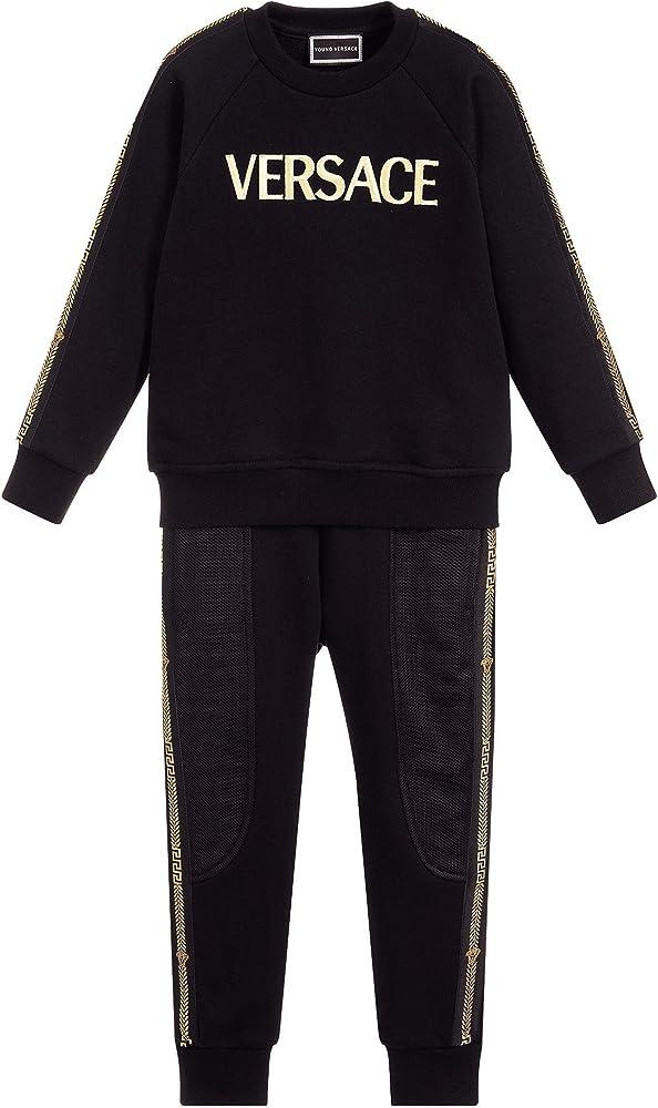 Versace Chándal Joven algodón Negro 6 Years Black: Amazon.es: Ropa ...