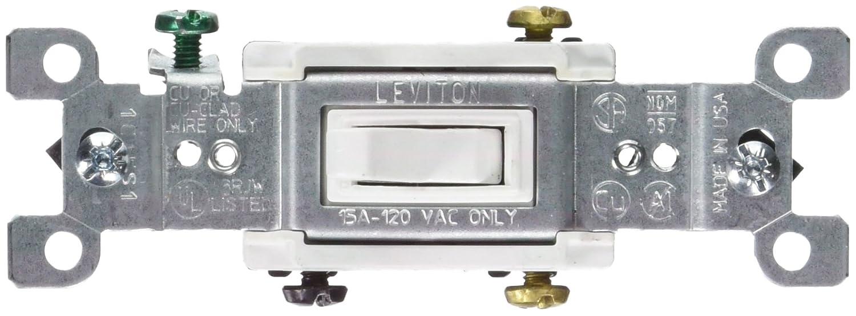 Leviton L12-0S453-00W 3 Way HD Switch White